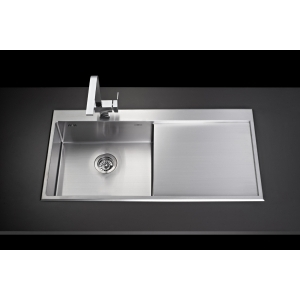 MEX INSET SINK 1 BOWL SQUARE-ROUND 1 DRAINER Mod.SRD1001 (S/S)